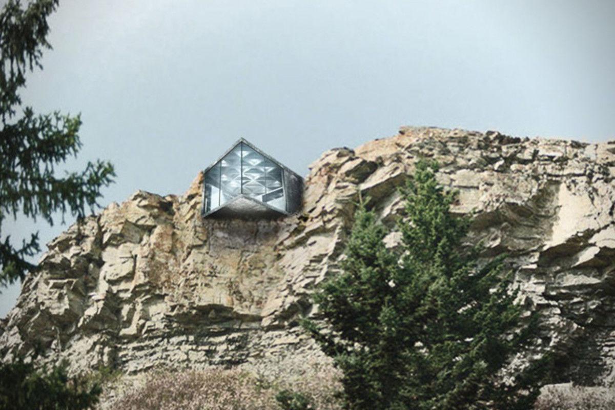 Этот великолепный минималистский дом висит над обрывом
