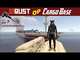 RUST CARGO Base - most OP & fun solo underwater jackhammer action