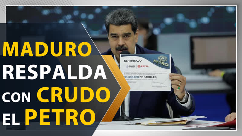 Maduro respalda criptomoneda con 30 millones de barriles de crudo
