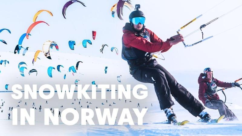 Two Kitesurfers Try Snowkiting in Norway Red Bull Ragnarok 2019