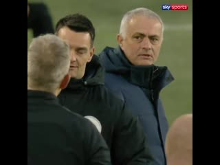 Fourth official Andy Madley has had enough of Jose Mourinho!