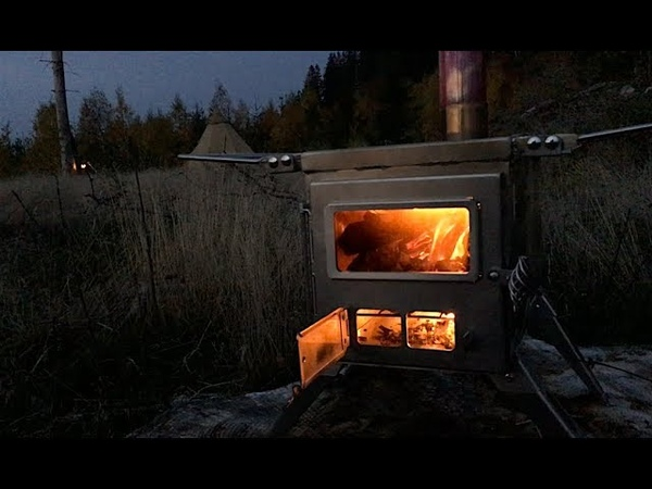 NOMAD - BEST GSTOVE ALTERNATIVE - Portable Wood Stove for Winter Camping in a Canvas Tent Cooking