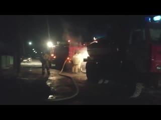 Видео с места страшного пожара в Башкирии, унесшего жизнь 11 человек