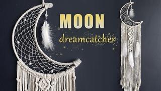 DIY Tutorial l How to make a Moon Dreamcatcher ? | Macrame Decor