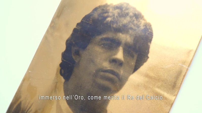 Al Diego Eterno tributo a Diego Armando Maradona opera d arte di Giuseppe Alletto