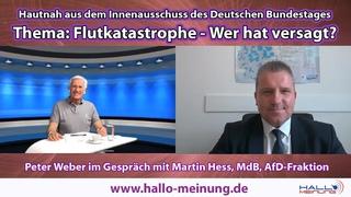 Hautnah aus dem Innenausschuss des Deutschen Bundestages -Thema: Flutkatastrophe - Wer hat versagt?