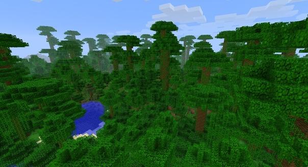 как найти тропический лес в майнкрафт #1