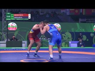 1/2 финала: Абдулрашид Садулаев (Россия) - Валерий Андрейцев (Украина)