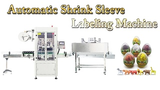 Automatic Shrink Sleeve Labeling Machine for Egg Shaped Toy