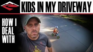 How I Deal With Kids Playing in My Driveway | The Saga of My Driveway Racetrack