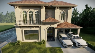 1 Kanal Classical house Animation   One Kanal Stunning Bungalow 45 X 90 luxury house design