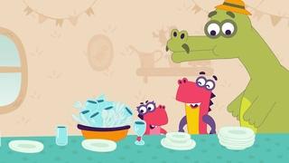 Заврики. Серия 16 «Званый ужин» | Развивающие мультики для детей