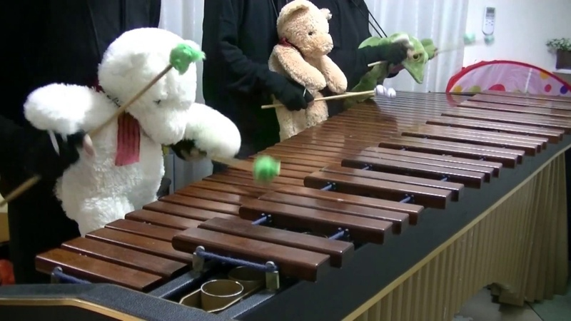 マリンバ3重奏「ぬいぐるみたちのリベルタンゴ」 Libertango Teddy bears Marimba trio
