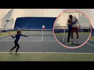 *CUTE MOMENT* Novak Djokovic Training With Little Girl In Belgrade