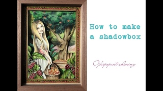 How to make a shadowbox. Slavic Beauties cut&color by Krystyna Nowak. Jak zrobić shadowbox