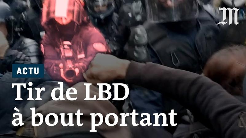 Tir de LBD à bout portant par un policier ce quil sest passé le 9 janvier à Paris