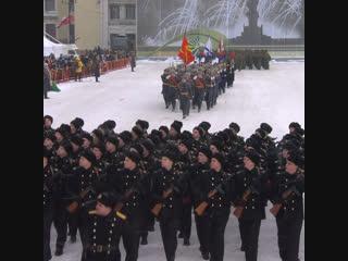 Парад в честь 75-летия снятия блокады Ленинграда