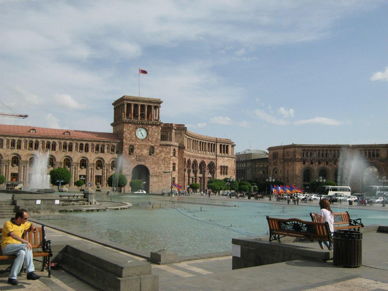 правительственная площадь В центре Еревана