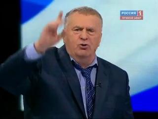 Жириновский зигует на предвыборных дебатах