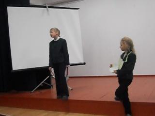репетиция сценки спор овощей