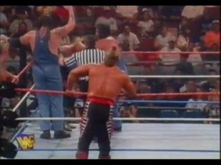 WWE In Your House 17 Ground Zero 1997 Legion of Doom vs Owen Hart Bulldog vs Headbangers vs Godwinns WWF Tag