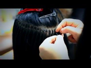 Наращивание волос участнице телешоу Дом-2 Евгении Феофилактовой