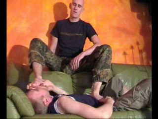 Domination gay foot Man with
