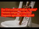 """Em Universidade Federal, """"artista"""" derrama sangue em crucifixo enquanto apresenta vídeo pornografico"""