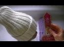 Вязание удлиненной шапки резинкой 2*2. Шапка Тыковка