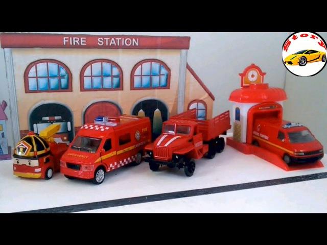 Машинки для мальчиков. Мультик Пожарная Машина тушит пожар. Развивающее видео с ...