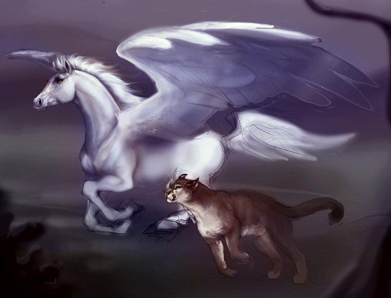 лошади волки драконы картинки