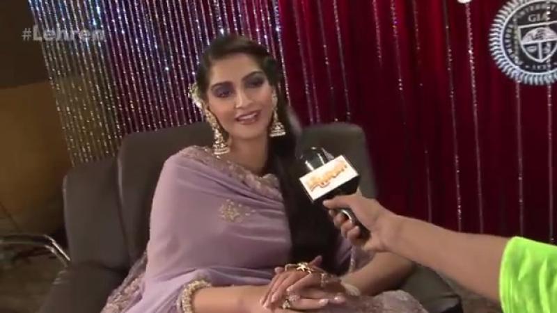 IIJW 2015 Sonam Kapoor EXCLUSIVE Interview LehrenTV