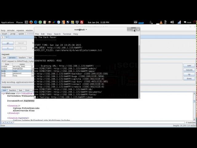 BWAPP - SQL Injection Basic - Burp Suite - Reverse NC - Kali Linux 2015