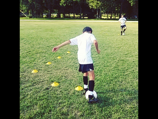 """PDSA Soccer on Instagram U13 PDSA Small Sided Academy and National premier league player Chip working on a combination drill off the 2 cones 8 advanced dribbling…"""""""