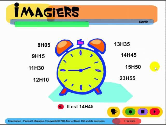 FRANÇAIS LANGUE ÉTRANGÈRE = Imagiers = Vocabulaire = L'heure
