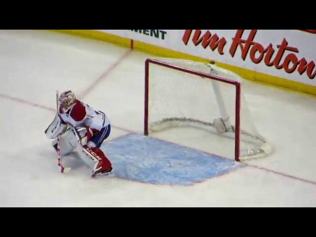 Carey Price in action during the Canadiens @ Senators hockey game