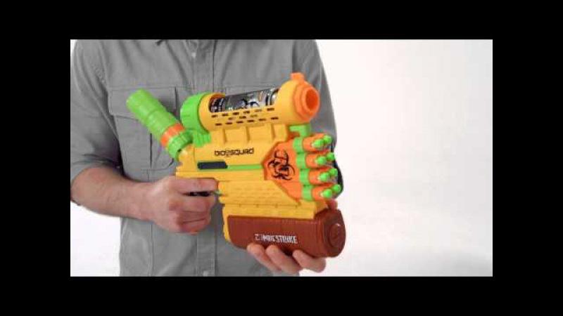 Nerf North America Product Demo ZombieStrike BioSquad Abolisher ZR-800