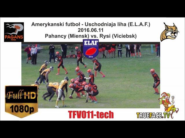 TFV011 tech Американский футбол ELAF 2016 Рысі Віцебск * Паганцы Менск