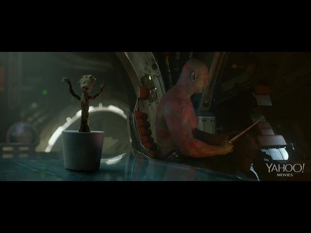 GUARDIANS OF THE GALAXY Movie Clip Baby Groot Dancing 2014 Vin Diesel Movie HD
