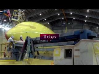 Как перекрашивают самолёты. Virgin Australia Boeing 737