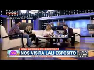Lali Espósito en viva la tarde 5/7/14