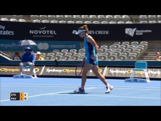 Stosur v Pavlyuchenkova Match Highlights (R1)   Apia International Sydney 2017