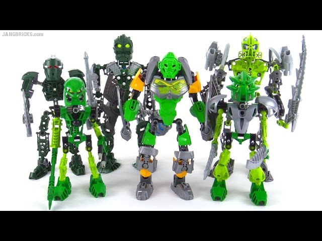 LEGO Bionicle Old vs New compared representative samples NOT ALL green products ever
