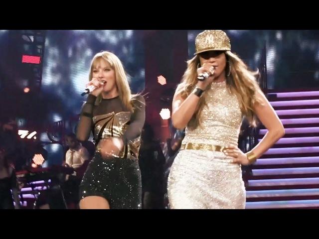 Jennifer Lopez Taylor Swift Jenny from the Block live at Staples Center