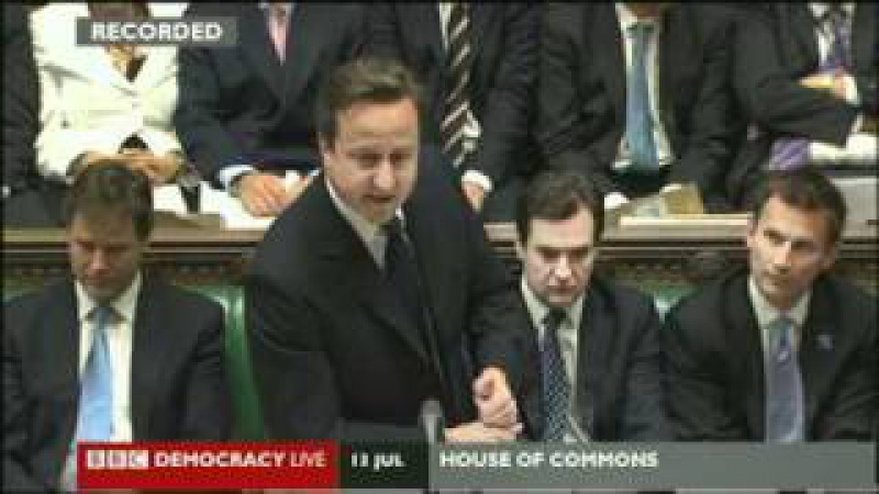 Prime Minister s Questions: David Cameron Ed Miliband Exchanges 13.07.2011 NOTW Phone Hacking