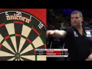 Phil Taylor vs Gary Anderson (Perth Darts Masters 2015 / Semi Final)