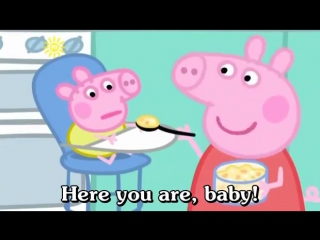 Learn english through cartoon _ peppa pig with subtitles _ episode 59_ baby alexander subtitled