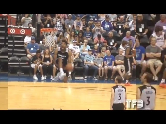 Karl Anthony Towns KILLS Between the Legs DUNK during TWolves Practice