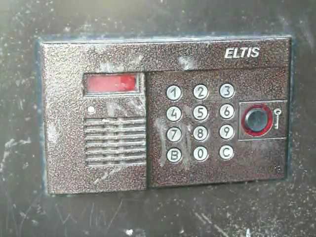 домофон Элтис Eltis меню код доступа