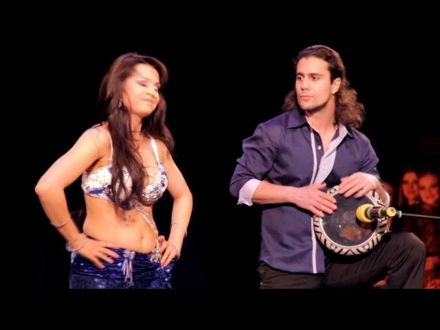 Bellydance Drum Solo Marina Oganyan and Artem Uzunov Solo tabla